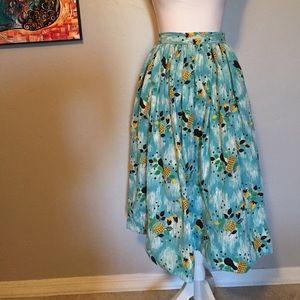 Vintage Yellow Fruit Aqua Skirt